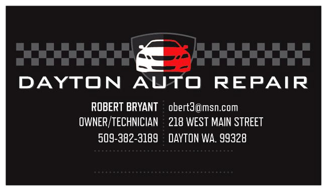 Dayton Auto Repair Logo and card